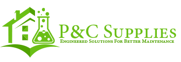 P and C Supplies & Janitorial Service Logo